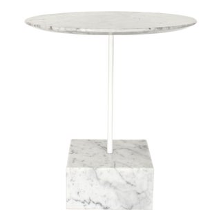 Ettore Sottsass Primavera Carrara Marble Side Table For Sale