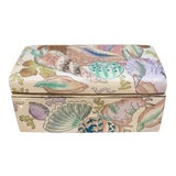 Image of Vintage Palm Beach Chic Chinoiserie Nautical Sea Shell Keepsake Porcelain Box For Sale