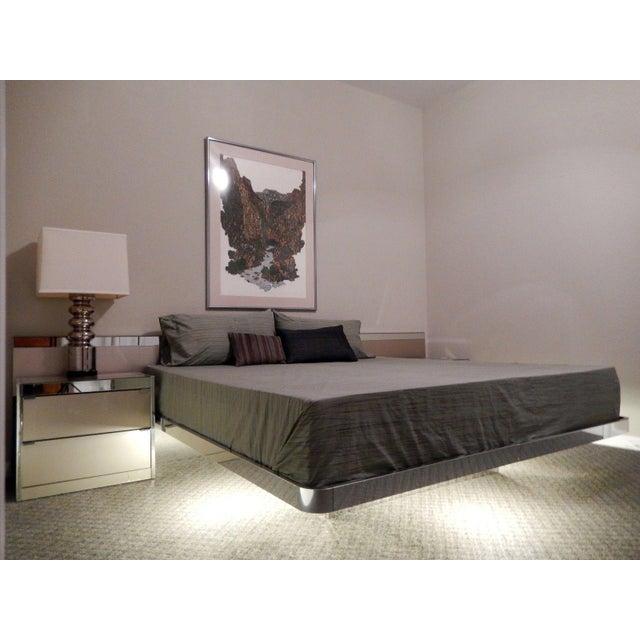 Ello MidCentury Modern Illuminated Platform Bed Chairish - Ello bedroom furniture