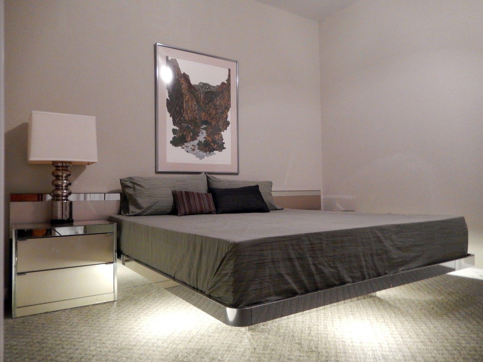 Ello Mid Century Modern Illuminated Platform Bed   Image 8 Of 9