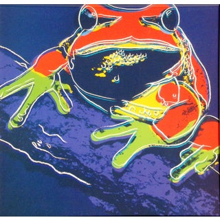 """Any Warhol """"Pine Barrens Tree Frog"""" Offset Lithograph For Sale"""
