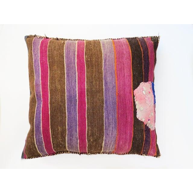 Vintage Bohemian Afghan Pillow - Image 3 of 3