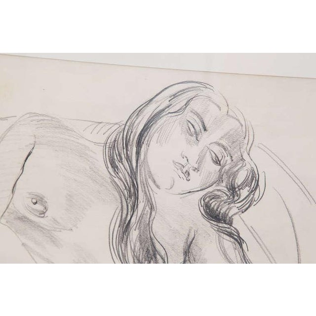 Sir Jacob Epstein pencil drawings circa early 1930's. There is a drawing on the front and back of the same piece of paper...