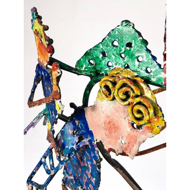 1980s Zaikine Folk Art Signed Metal Sculpture For Sale - Image 12 of 13