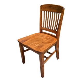 Fine Antique 1920s Lucas Bros. Arts & Crafts / Mission Oak Chair For Sale
