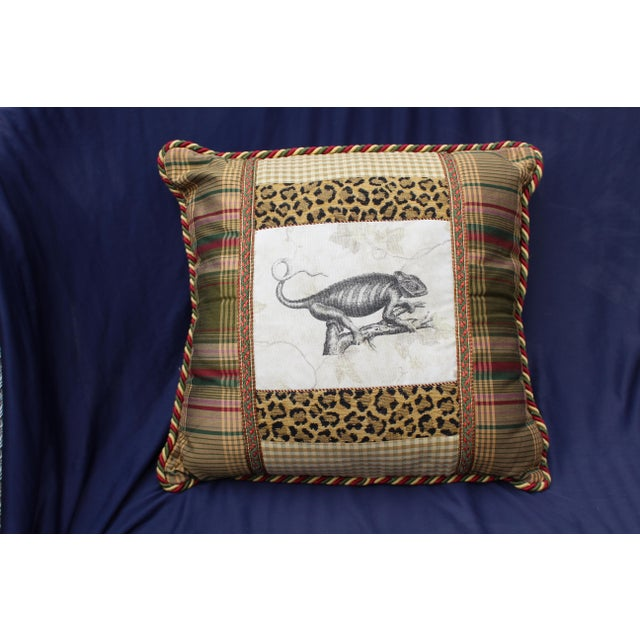 Silk Late 20th C. Unusual Custom Pillow For Sale - Image 7 of 7