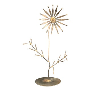 Mid Century Brutalist Copper Flower