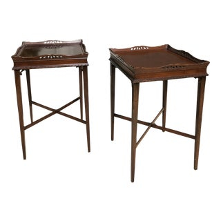 1940's Amergold Mahogany Side Tables - A Pair For Sale