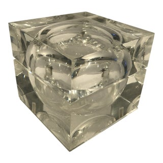1960s Mid-Century Modern Lucite Ice Bucket For Sale