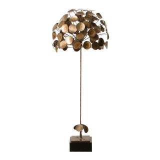 Topiary Sculpture In The Manner of C.Jere in Patinated Brass and Copper Circa 1970 For Sale