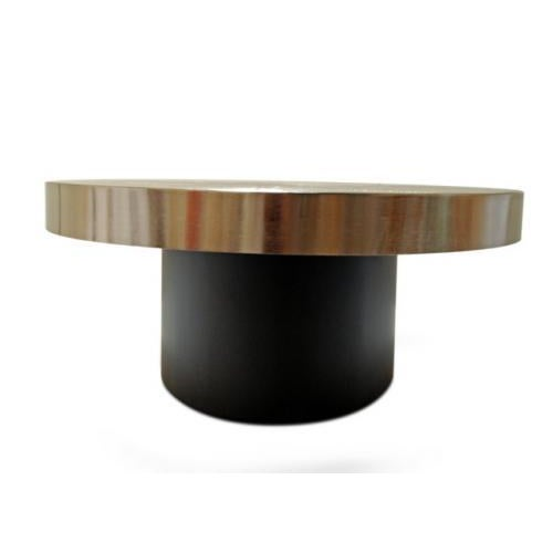 The Solaris cocktail / side table by Christian Heckscher is available with an etched bronze top and matt black lacquered...