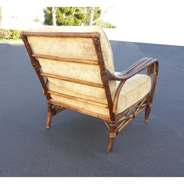Vintage Rattan Accent Arm Chair - Image 5 of 11