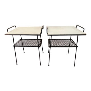 Vintage Outdoor Garden Patio Tables - a Pair For Sale