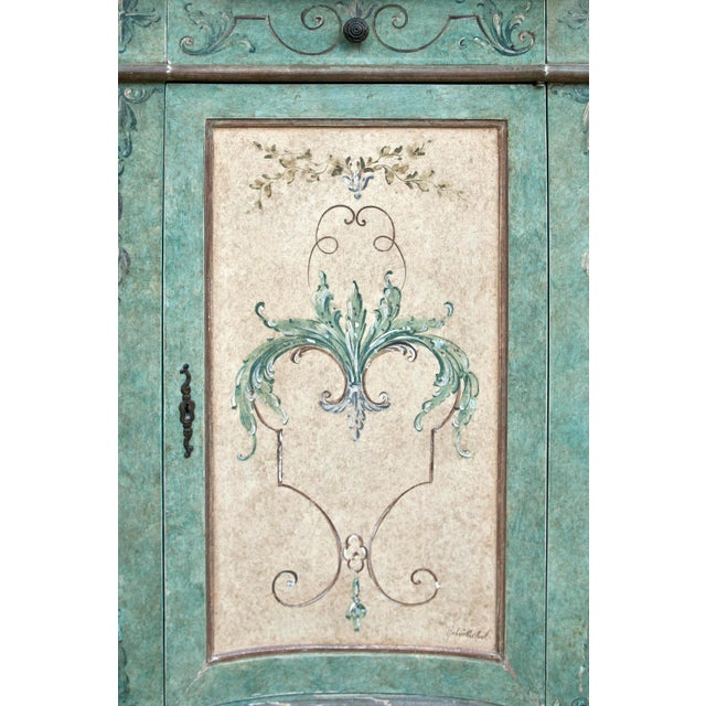 Italian Hand Painted Cabinet For Sale - Image 4 of 10