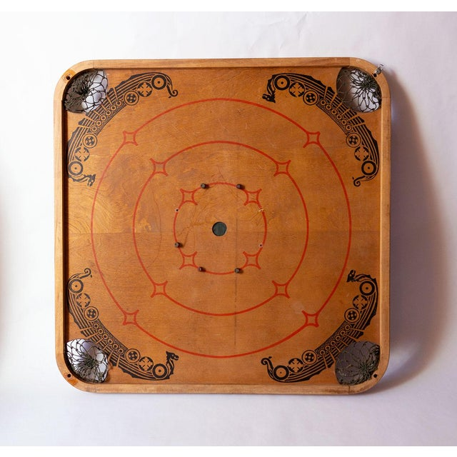 Boho Chic 1930s Boho Chic Viking Motif Carrom Board For Sale - Image 3 of 7