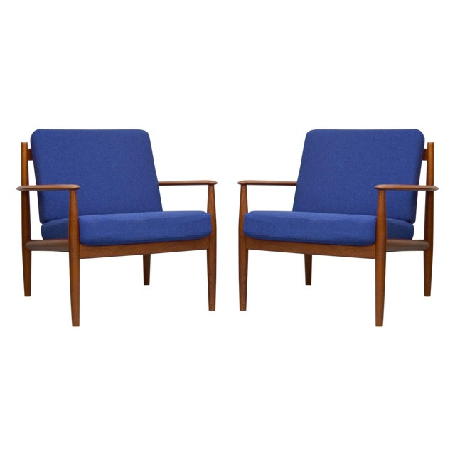 Grete Jalk for France & Son Lounge Chairs - A Pair For Sale