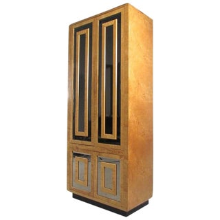 Romweber Mid-Century Burl Wood Armoire For Sale