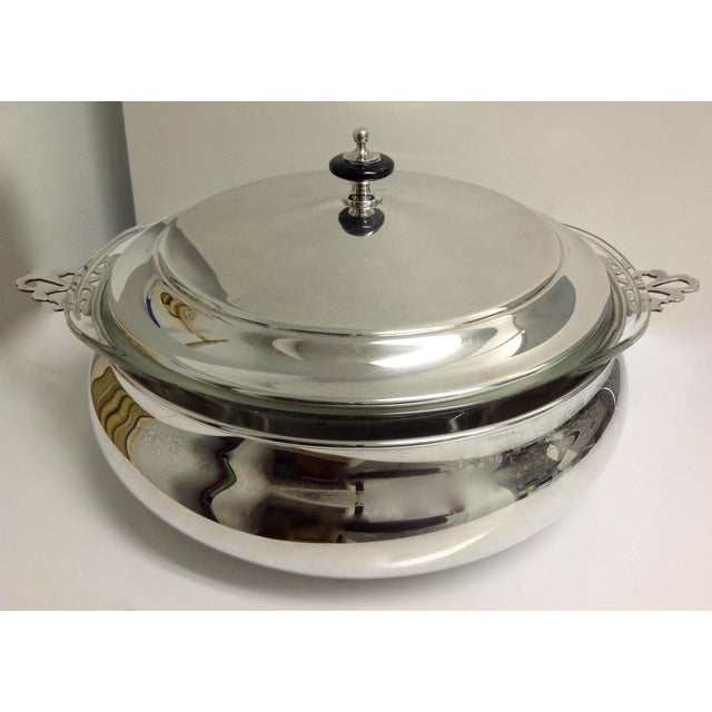Silver Plate Lidded Chapin Dish Server Bowl - 3 Pieces For Sale - Image 4 of 10