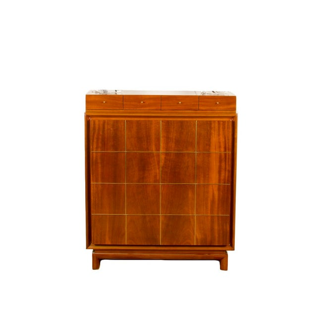 1960s Mid-Century Modern American of Martinsville Walnut Chest For Sale - Image 12 of 12