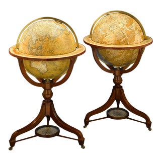 Celestial and Terrestrial Globes by Newton and Son For Sale