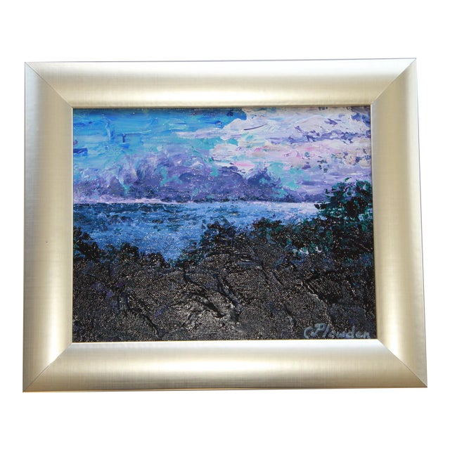 Irish Sea Impressionist Seascape at Dusk - Image 1 of 3