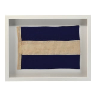 "Coastal Wall Decor Signal Flag ""J"" Framed Nautical For Sale"