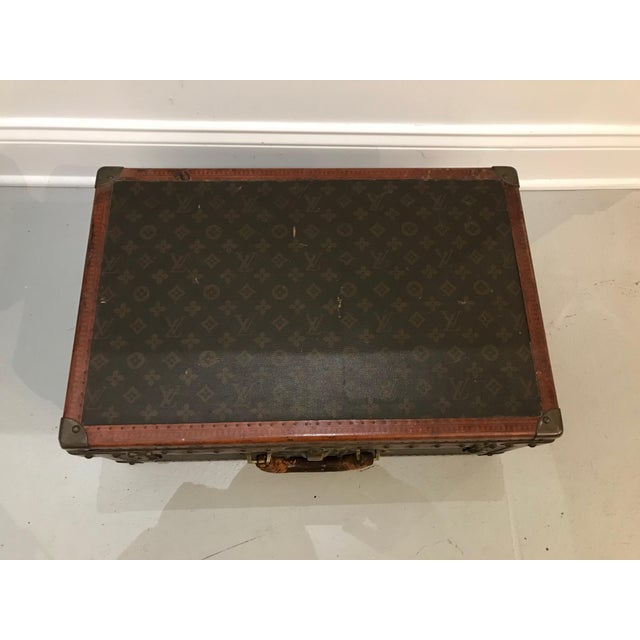 Animal Skin Louis Vuitton Suitcase Trunk With Key For Sale - Image 7 of 13