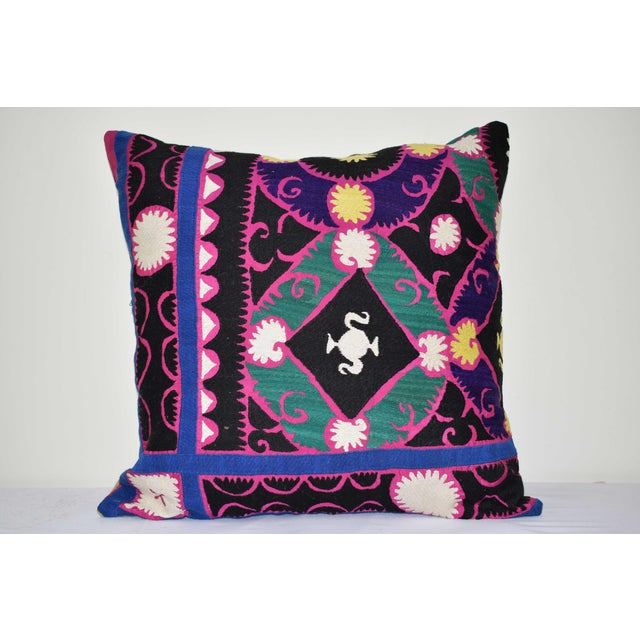 """Turkish Suzani Pillow 24"""" X 24"""" For Sale In Philadelphia - Image 6 of 6"""