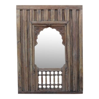 Early 19th Century Haveli Arched Mirror For Sale