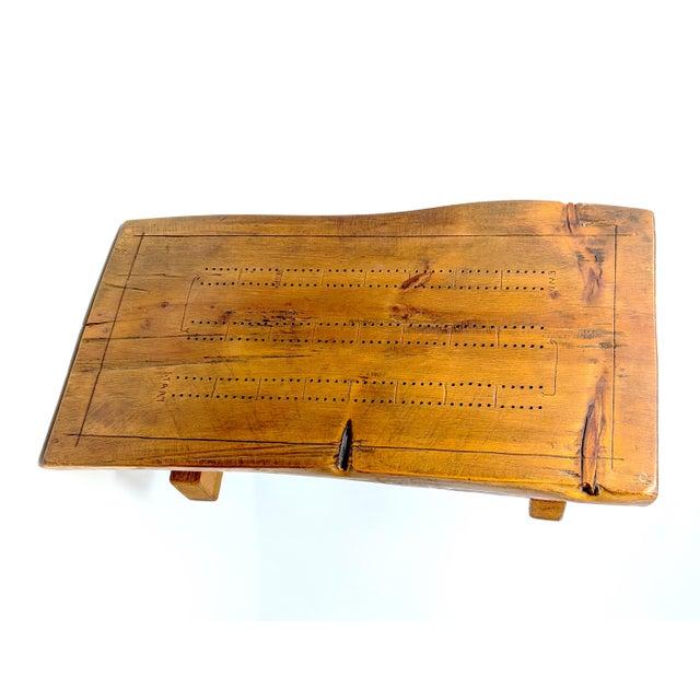 Vintage Folk Art Half-Log Cribbage Board For Sale - Image 10 of 10