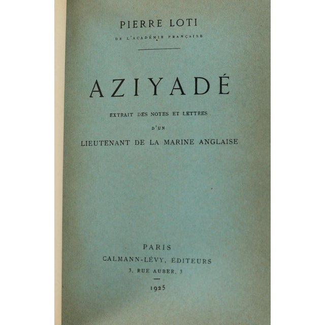 """Rare French copy of """"Aziyade"""" by Pierre Loti. 1925 Edition. A beautiful piece that will add to your décor!"""