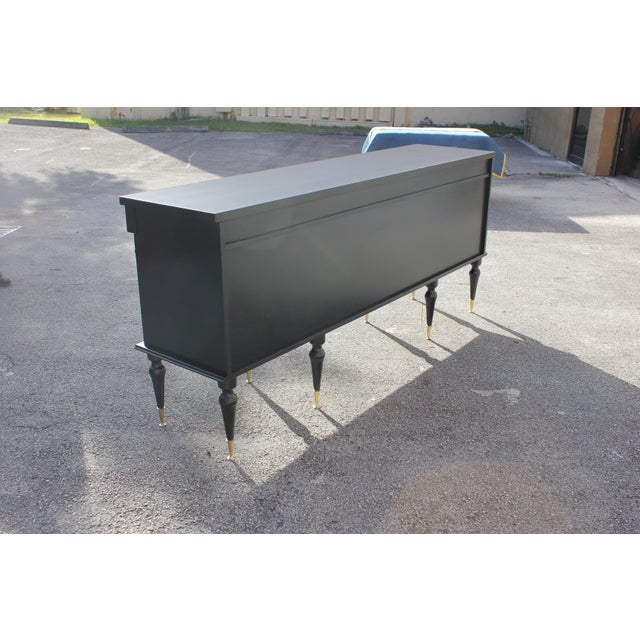 1920s Long French Empire Style Antique Sideboard or Buffet For Sale In Miami - Image 6 of 13
