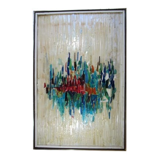 Mid-Century Modern Glass Wall Sculpture by Hayes Kelley For Sale