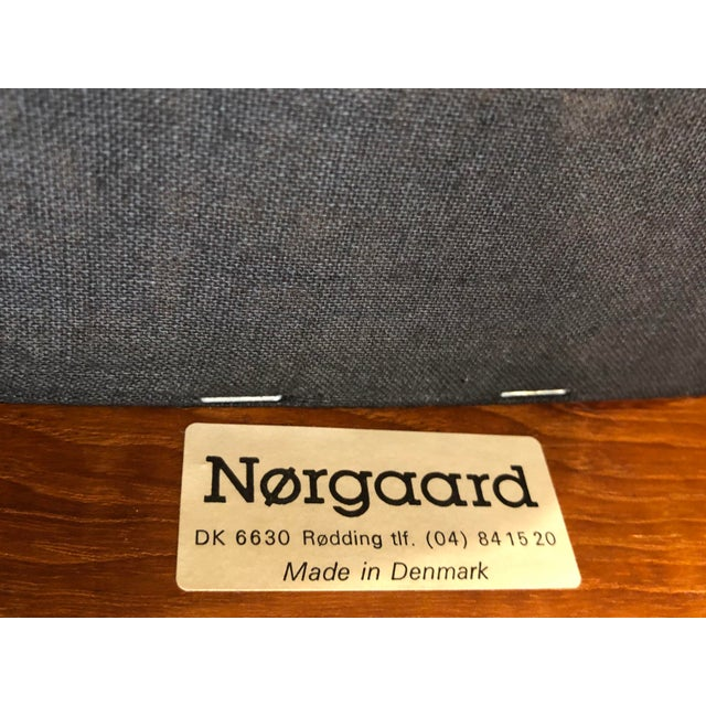 Mid-Century Norgaard Teak Arm Chairs, Made in Denmark, a Pair For Sale - Image 12 of 13