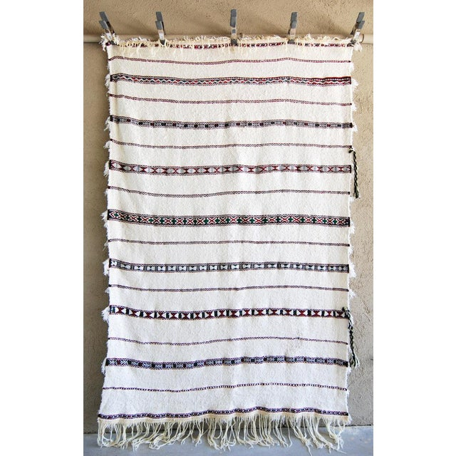 Vintage Moroccan Blanket Throw - Image 4 of 9