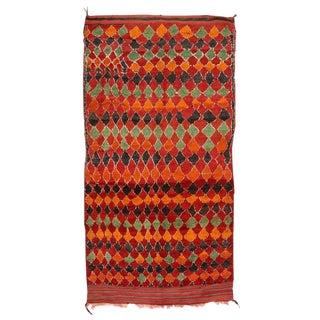 Vintage Berber Red Moroccan Rug - 7′3″ × 12′6″ For Sale