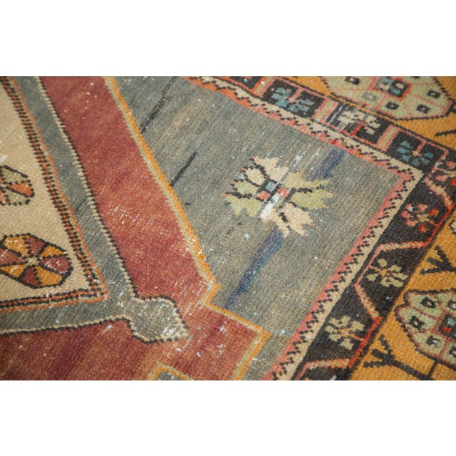 "Vintage Distressed Oushak Rug Runner -3'11"" x 9'2"" For Sale In New York - Image 6 of 11"