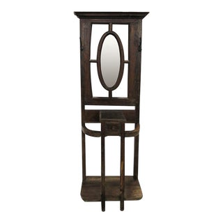 Early 20th Century Traditional Brown Wooden Umbrella Hall Stand For Sale