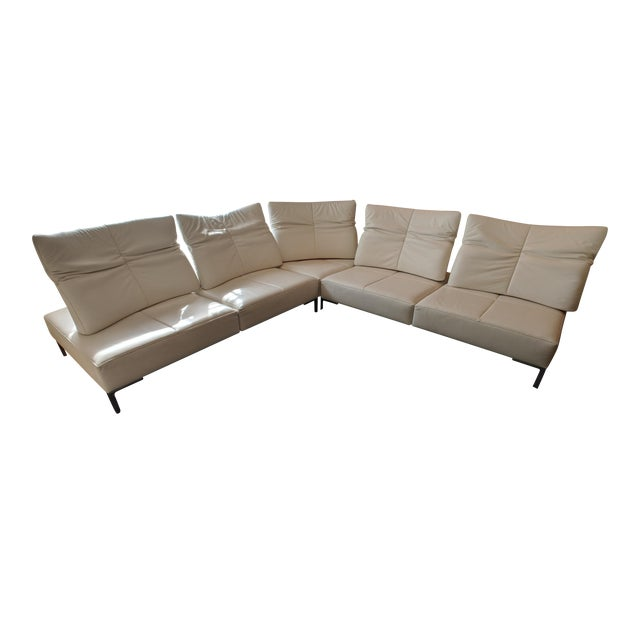 De Sede White Leather L-Shaped Sectional For Sale - Image 11 of 11