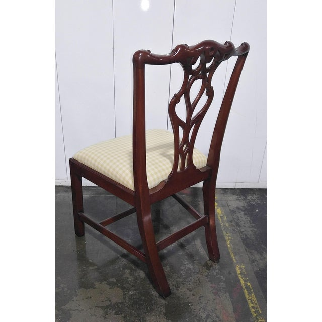 """Wood 1990s English Chippendale Dining Chairs by """"Restall, Brown & Clennell Ltd"""" - Set of 12 For Sale - Image 7 of 13"""