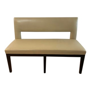Holly Hunt Christian Liaigre Leather Velin Banquette Bench For Sale