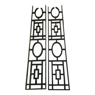 Antique Shabby Chic Wood Trellis Panels - A Pair For Sale