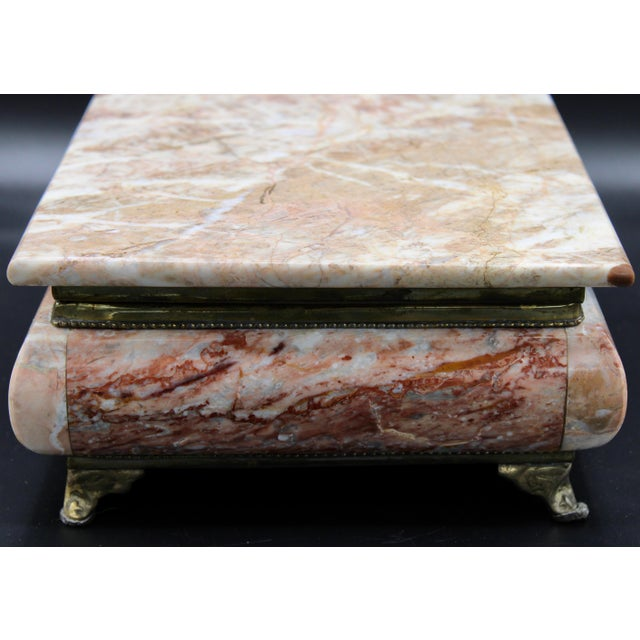 Mid-20th Century Monumental Footed Marble Box For Sale - Image 4 of 12