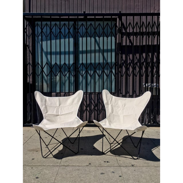 White Butterfly Chairs - A Pair - Image 2 of 6