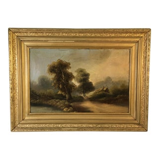 Late 19th Century Antique Framed Landscape Painting For Sale