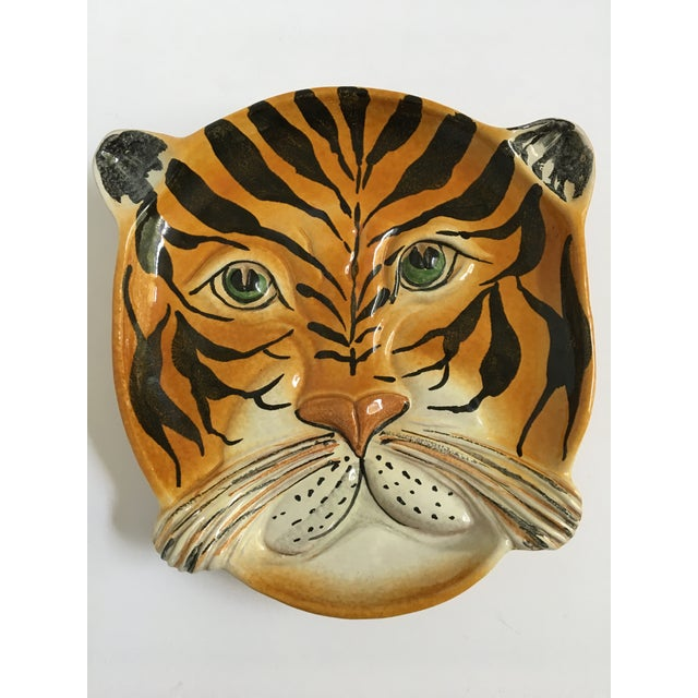 Mid Century Italian Hand Painted Striped Tiger Platter For Sale - Image 13 of 13