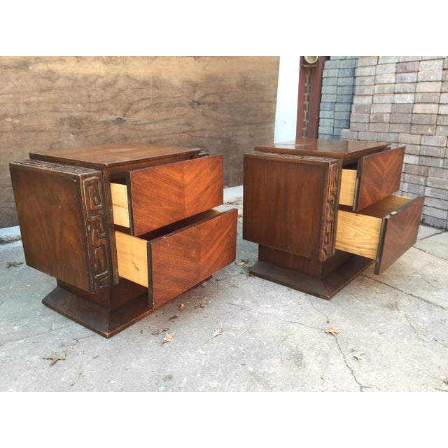 United Furniture Brutalist Side Tables - A Pair For Sale - Image 4 of 8