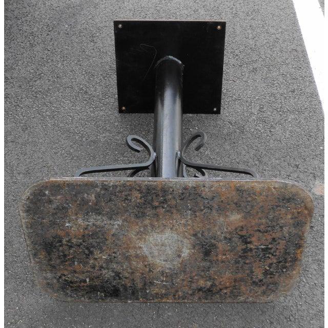 Antique Black Painted Art Deco Cast Iron Table Base For Sale - Image 10 of 11