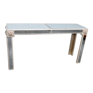 20th Century Art Deco Mirrored Console Table For Sale