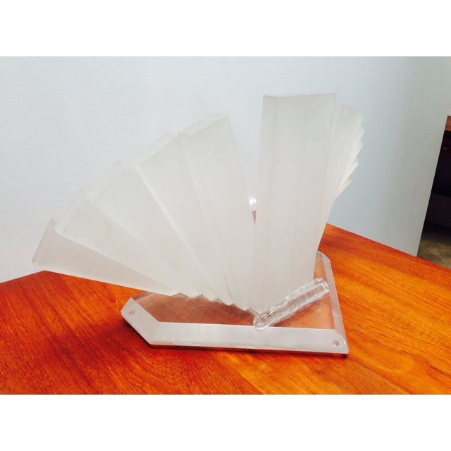 Plastic Studio Sculptural Lucite Table Lamp For Sale - Image 7 of 7